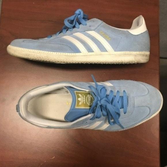 3175092add2 adidas Other - Adidas Samba Light Blue Mens Shoes 11 Suede Velvet